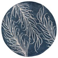 Bob Mackie Home Plume 7-Foot 6-inch Round Area Rug in Slate Grey