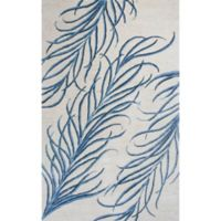 Bob Mackie Home Plume 9-Foot x 13-Foot Area Rug in Ivory