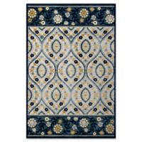 KAS Anna Serafina 3-Foot 3-Inch x 4-Foot 7-Inch Accent Rug in Ivory/Blue