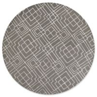 KAS Impressions Sterling 5-Foot 6-Inch Round Area Rug in Grey