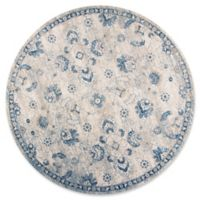 KAS Seville Sutton 7-Foot 7-Inch Round Area Rug in Grey/Blue