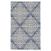 Feizy Pia Diamond Damask 5-Foot x 8-Foot Area Rug in Grey