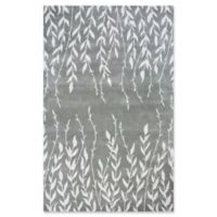 KAS Bob Mackie Home Tranquility 5-Foot x 8-Foot Area Rug in Silver