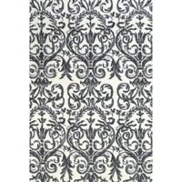 Feizy Pia Damask 2-Foot x 3-Foot Accent Rug in Slate
