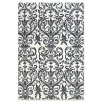 Feizy Pia Damask 5-Foot x 8-Foot Area Rug in Slate