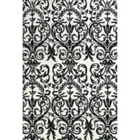 Feizy Pia Damask 8-Foot x 11-Foot Area Rug in Ebony