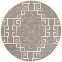 KAS Impressions Windsor 5-Foot 6-Inch Round Area Rug in Grey