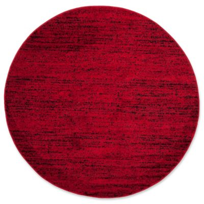 Safavieh Adirondack Heather 6 Foot Round Area Rug In Red