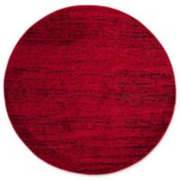 Safavieh Adirondack Heather 6-Foot Round Area Rug in Red