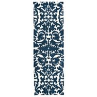 Feizy Rugs Pia 2-Foot 6-Inch x 8-Foot Runner in Navy