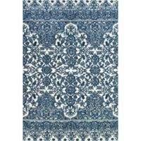 Feizy Pia Floral 2-Foot x 3-Foot Accent Rug in Indigo