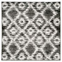 Safavieh Adirondack Diamonds 6-Foot Square Area Rug in Charcoal