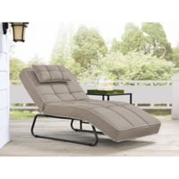 Relax-A-Lounger Bayshore Outdoor Convertible Chaise in Cabana Sand