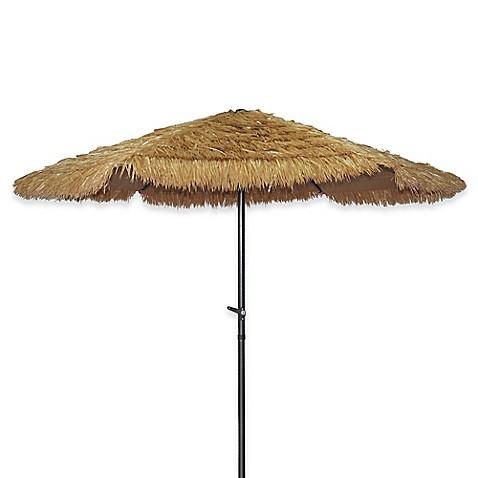Tiki Market 8 2 Foot Crank Open System Umbrella In Natural