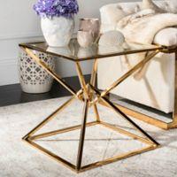 Safavieh Couture Fiorella End Table in Gold
