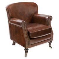 Safavieh Manchester Leather Armchair in Brown