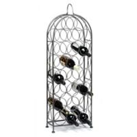 Oenophilia Bordeaux Chateau 23-Bottle Wine Rack in Silver