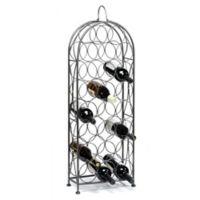 Oenophilia Bordeaux Chateau 23-Bottle Wine Rack in Silver