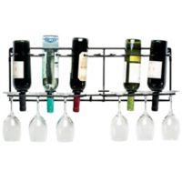 Oenophilia Vin-Array 6-Bottle Wine Wall Rack in Black