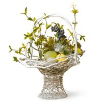National Tree Company 14-Inch Decorated Easter Basket in Yellow