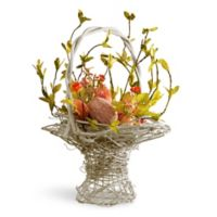 National Tree Company 14-Inch Decorated Easter Basket in Pink