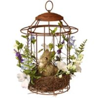 National Tree Company 12-Inch Easter Bird Cage