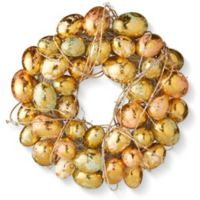 National Tree Company 12-Inch Easter Egg Wreath in Gold