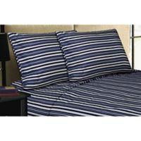 Micro Lush Microfiber Standard Pillowcases in Navy (Set of 2)