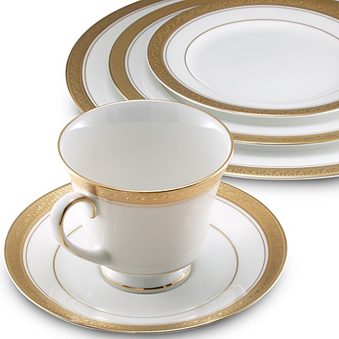 Noritake 174 Crestwood Gold Dinnerware Collection Bed Bath