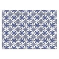 The Softer Side by Weather Guard™ Delft Floral 46-Inch x 66-Inch Kitchen Mat