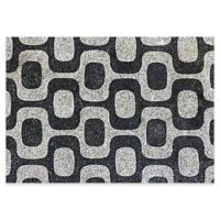 The Softer Side by Weather Guard™ 46-Inch x 66-Inch Modern Mosaic Kitchen Mat in Black/White