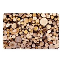 The Softer Side by Weather Guard™ 46-Inch x 66-Inch Stacked Logs Kitchen Mat