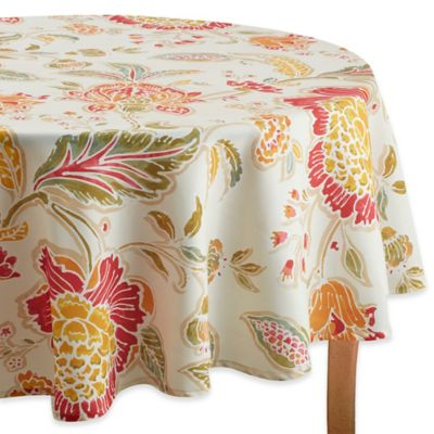 Adria 70 Inch Round Tablecloth