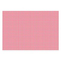 The Softer Side of Weather Guard™ Houndstooth 46-Inch x 66-Inch Area Mat in Coral