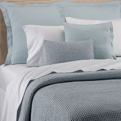 Bellora® Luxury Italian Made Asami Stone Full/Queen Coverlet In Sky Blue