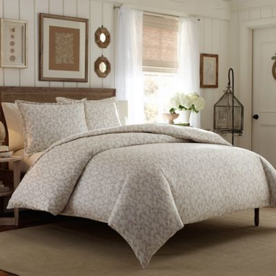 Laura Ashley Victoria Full Queen Duvet Cover Set In Taupe