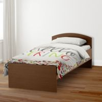 Designs Direct Hello Spring Twin Duvet Cover in Pink/Green