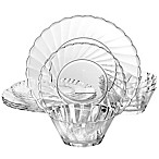 Gibson Home Estelle 12-Piece Acrylic Dinnerware Set in Clear