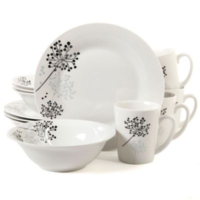 Gibson Overseas Netherwood 12-Piece Dinnerware Set in White  sc 1 st  Bed Bath u0026 Beyond : white dinnerware sets for 12 - pezcame.com