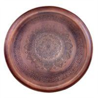 Old Dutch International Casablanca Antique Copper Steel Round Tray in Antique Copper