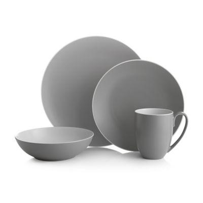 nambe pop 4piece place setting in slate - Modern Dinnerware