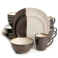 Gibson Elite Volterra 16-Piece Dinnerware Set in Cream