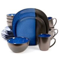 Gibson Elite Volterra 16-Piece Dinnerware Set in Cobalt