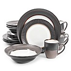 Gibson Elite Wayfair 16-Piece Dinnerware Set in Black/White