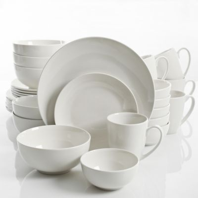 Gibson Home Ogalla 30-Piece Dinnerware Set in White  sc 1 st  Bed Bath u0026 Beyond : bed bath and beyond dinnerware sets - pezcame.com