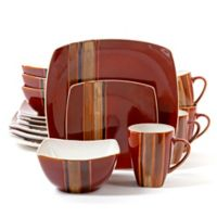 Gibson Elite Regent Classic Square 16-Piece Dinnerware Set