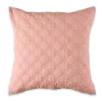 Toren Cotton European Pillow Sham in Coral