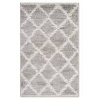 Safavieh Adirondack Diamond Trellis 3-Foot x 5-Foot Area Rug in Silver