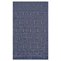 Feizy Greystone 5-Foot 6-Inch x 8-Foot 6-Inch Area Rug in Dark Blue