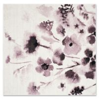 Safavieh Adirondack Watercolor Floral 6-Foot Square Area Rug in Ivory
